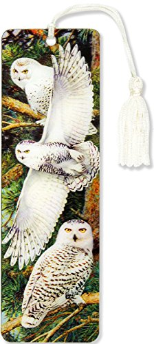 SNOWY OWL 3-D BOOKMARK (LENTIC