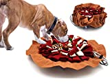 Alibuy Dogs Snuffle Mat Pet Feeding Mats Puppy Sniffing Pad,Cat Doggies Interactive Puzzle Toys for Multiple Breeds Encourages Natural Foraging Skills,Training and Stress Release (Red Brown)