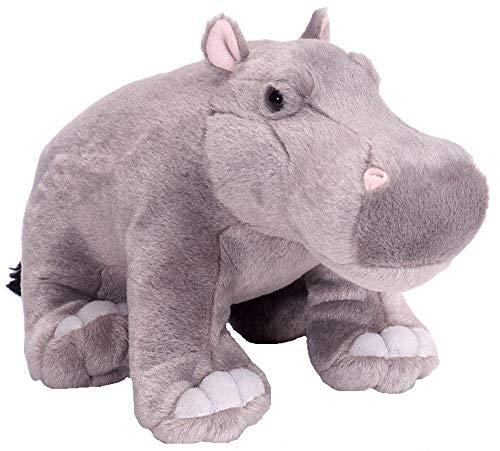 Wild Republic Republic-16620 Peluche Hippopotame Cuddlekins, Jouets, 30cm, 16620, Gris