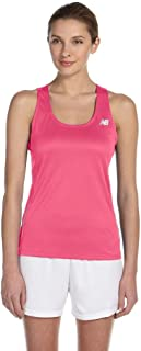 New Balance Womens' Tempo Running Singlet (Safety Pink) (2X-Large)