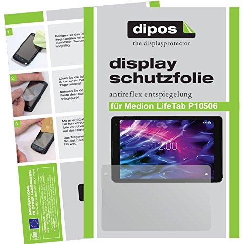 dipos I 2X Schutzfolie matt kompatibel mit Medion LifeTab P10506 Folie Displayschutzfolie