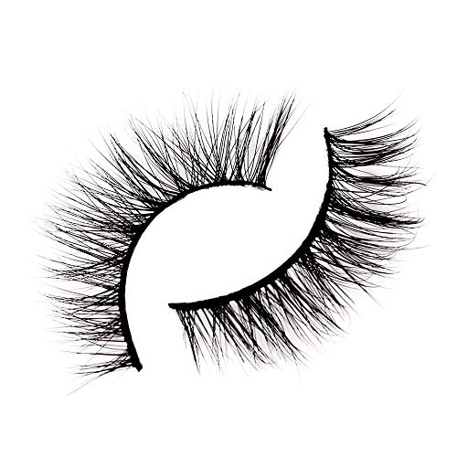Kingburry 10mm False Eyelashes-Natural Style Handmade 3D Mink Long Magnetic Fake Lash-Soft Reusable and Easy to Apply Cruelty Free, 1 pair, W012