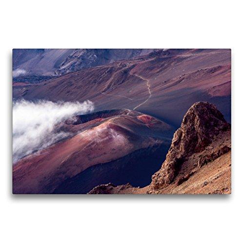 Premium Textil-Leinwand 75 x 50 cm Quer-Format Haleakala NP - Vulkan Krater | Wandbild, HD-Bild auf Keilrahmen, Fertigbild auf hochwertigem Vlies, Leinwanddruck von Thomas Klinder