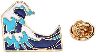 Aisoway Ocean Wave Spilla Pins-Zaino Abbigliamento Gioielleria