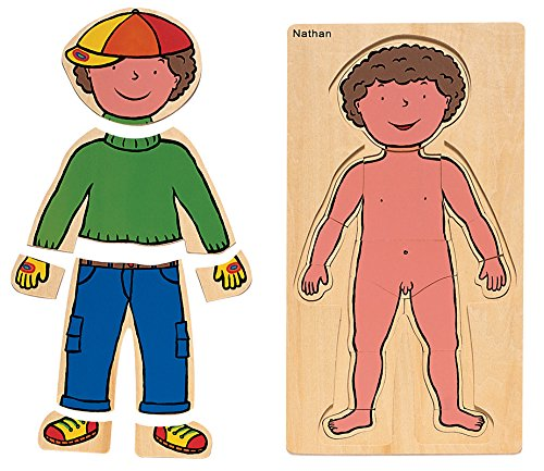 Nathan NATHAN332717 Boy Body Discovery Puzzles ( Pezzi)