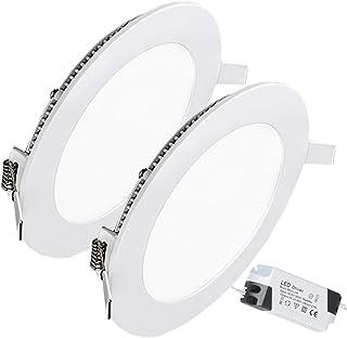 12W Luz de Techo Empotrada LED Redondo Panel de Luz Led Downlight Destacar Iluminación Cocina Baño Corredor 4000K Neutral White Tamaño del Agujero 15.5CM