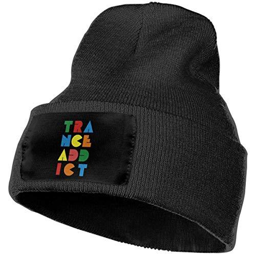 Trance Addict Summer Collection Gorro de Punto Unisex con puños Lisos Gorro de Calavera Warm Beanie Headwear
