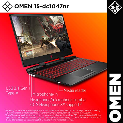 Omen by HP 2019 15-Inch Gaming Laptop, Intel i7-9750H Processor, GeForce RTX 2070 8 GB, 32 GB RAM, 512 GB SSD, VR Ready, Windows 10 Home (15-dc1047nr, Black)