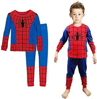 Boys Pajamas Sets Children Pants 100 Cotton Spider-man...