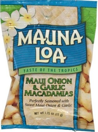 MAUNALOA(マウナロア) マカデミアナッツ Sサイズ 32g【メール便】 (オニオン&ガーリック)