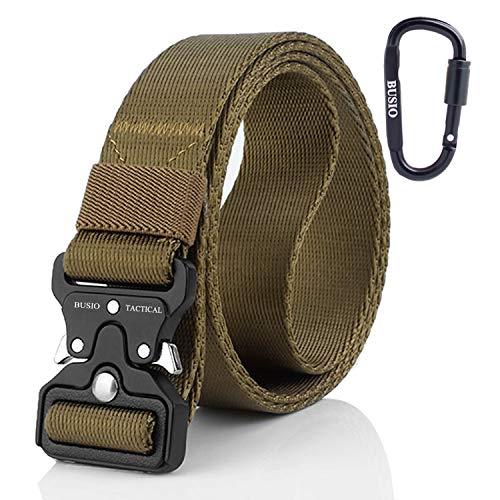 BUSIO Cinture Piccolo Tattiche Militari Rigger,Cintura CQB Molle Nylon Web,Fibbia Metallo Sgancio Rapido,Tactical Belt edc Elegante per Uomini Donne Jeans