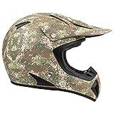 Typhoon Adult Camo ATV Helmet Off Road ORV Motocross DOT Motorcycle Matte Finish Digi Camouflage (XL)