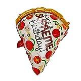 jojofuny Pizza Rebanada Globo de Dibujos Animados Jumbo Pizza Globos Foto Prop Simulación Pizza Mesa Centro DE Mesa Decoración para Cumpleaños Fiesta de Boda
