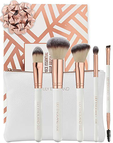 Lily England - Set 5x Pennelli Make Up Con Custodia...