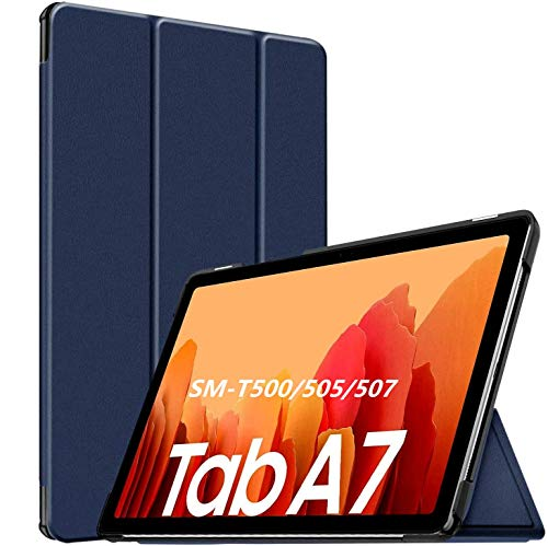 APISHUM Custodia per Samsung Galaxy Tab A7 10.4   2020 SM-T505 T500 T507 Case Cover, Smart PU Cover Multi-angli Stand con Auto Sveglia Sonno Funzione con Samsung Galaxy Tab A 7, Blu