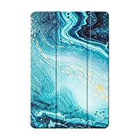 Sepikey iPad Air 1/iPad Air タブレットケース,傷防止 耐衝撃性 三つ折タイプ 耐摩耗性 レザー 三つ折 タブレットケース iPad Air 1/iPad Air Case-マーブル4