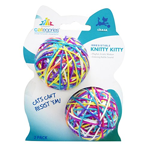 Categories Knitty Yarn Ball Cat Toy With Rattle