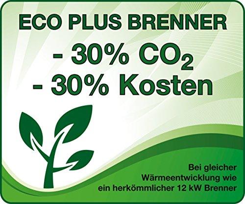 Enders Terrassenheizer Gas ELEGANCE, Gas-Heizstrahler 9376, Heizpilz mit stufenloser Regulierung, ECO PLUS Brenner, Transporträder, Umkippsicherung - 5