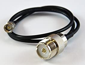 MPD Digital lmr-195-sma-uhf-ff-adapter SMA male plug to UHF female Coaxial Jumper SO-239 to SMA, 4-Feet