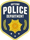 Anytown Police Department Emblem Sign Alta Calidad De Coche De Parachoques Etiqueta Engomada 10 x 12 cm