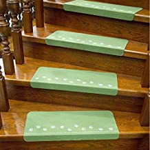 Non-Slip 10 Pcs Luminous Stair Pads Self-Adhesive Stair Carpets Tread Mats Non-Slip Floor Staircase Protector Mat Pad for ...