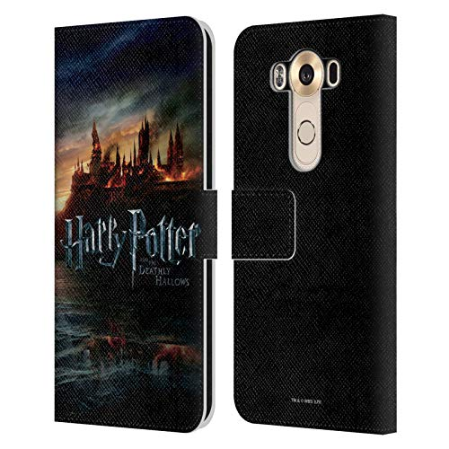 Head Case Designs Officially Licensed Harry Potter Castle Deathly Hallows VIII Leather Book Wallet Case Cover Compatible with LG V10