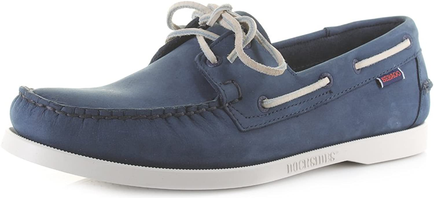 Sebago Mens Dockside NBK bluee Navy Leather Boat Sh Size