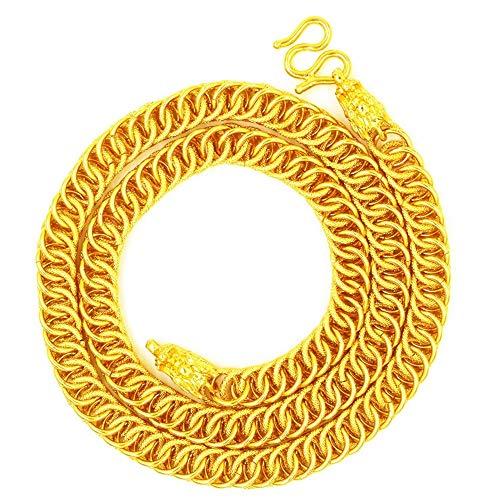 Kunze Collar de Doble Grifo de Joyas de Oro, Cadena de Oro Grande dominante de los Hombres chapados en Oro