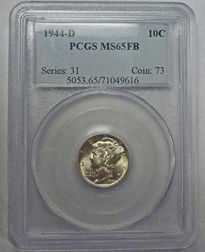 1944 D Mercury Dime MS65FB PCGS