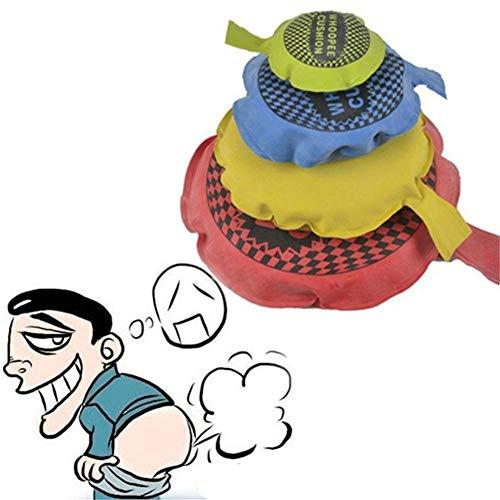 XIAMUSUMMER Furzkissen Selbstaufblasende Pupskissen Scherzartikel Furz Kisse, Whoopee Kissen Witz Spielzeug Geschenk, 9CM (Zufällige Farbe)