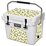 MightySkins (Cooler Not Included) Skin Compatible with YETI Roadie 20 qt Cooler wrap Cover Sticker Skins Whiskey