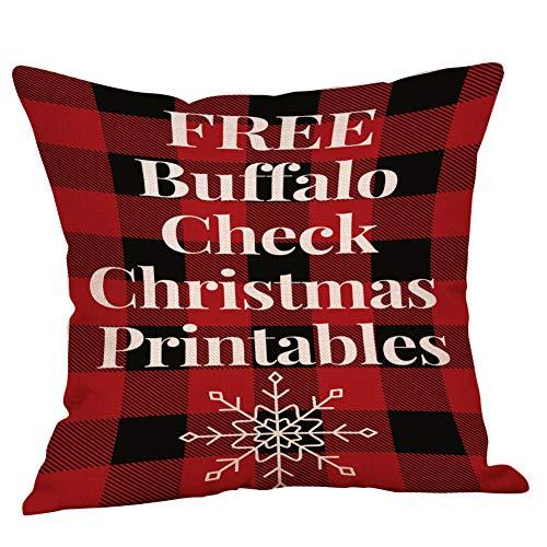 XIEPEI Weihnachten Brief Muster Sofa Kissen Kissenbezug 8 45cm*45cm