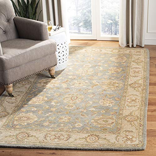 Safavieh Antiquity Collection AT312A Handmade Traditional Oriental Premium Wool Area Rug, 3' x 5', Blue / Beige