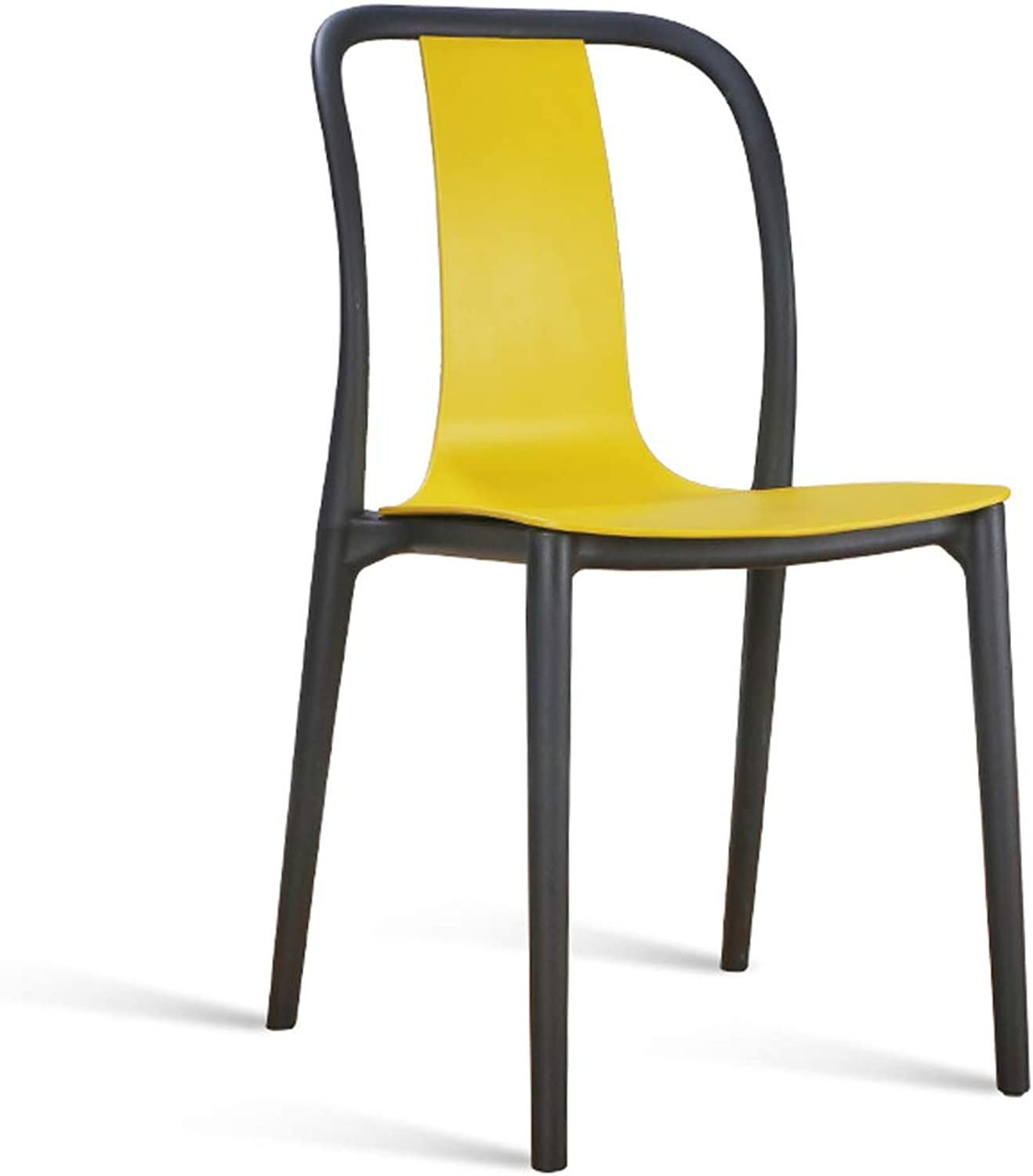 LRW Minimalist Modern BackChair, Family Dining Chair, Adult Fashion, Creative Stool, Cafe Chair, Yellow Chair.