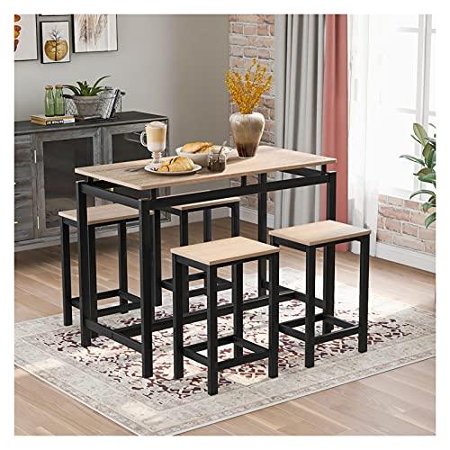 LYUN Mesa de Comedor con 4 sillas, Mesa de Comedor práctico de 5 Piezas para desayunar rincón, Sala de Cocina, Mini Bar o Patio (Color : B)