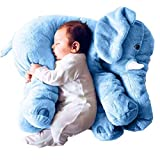 KiKa Monkey Lovely Elephant Stuffed Animals Plush Toy Doll Soft Elephant Pillow Sofa Cushion (Blau)