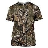 Owenqian Camisetas para Hombre,Camiseta para Hombre y Mujer, Animal de Caza, Conejo, Moda 3D, Ropa de Calle, Manga Corta