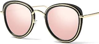 JOYS CLOTHING 男性女性のためのサングラスレトログラデーションオーバーサイズサークルレンズラウンドサングラス (Color : A)