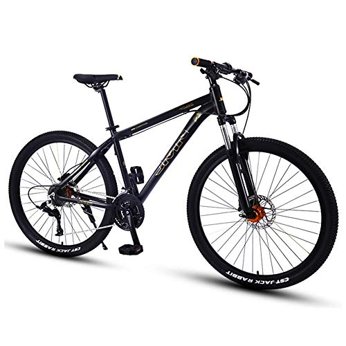 Mountain Bikes, 27,5 Zoll Big Wheels Hardtail Mountainbike, Overdrive Alurahmen Mountain Trail Bike, Mens-Frauen-Fahrrad, Gold, 27 Geschwindigkeit FDWFN (Color : Gold, Size : 30 Speed)