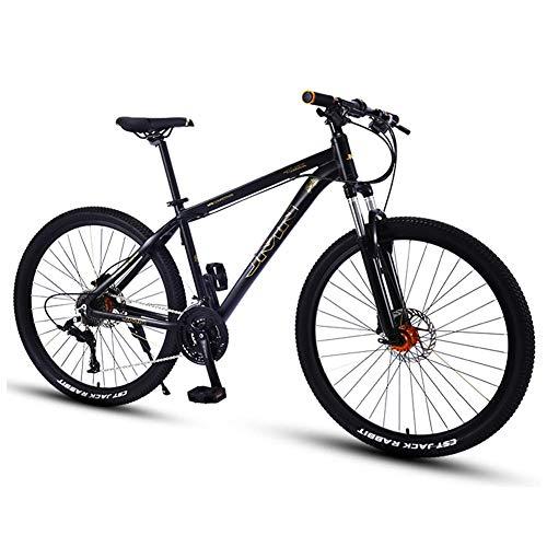 Mountain Bikes, 27,5 Zoll Big Wheels Hardtail Mountainbike, Overdrive Alurahmen Mountain Trail Bike, Mens-Frauen-Fahrrad, Silber, 27 Geschwindigkeit Geeignet für Männer und Frauen, Radfahren und Wand