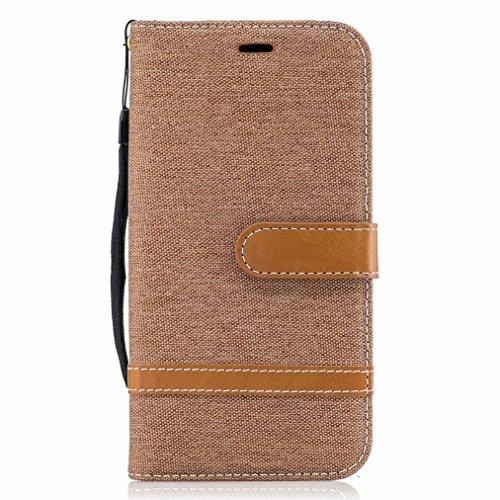 Yiizy Funda Tapa Motorola Moto G5 Plus, Patrón De Vaquero Diseño Carcasa Cuero Billetera Piel Cover Estuches...
