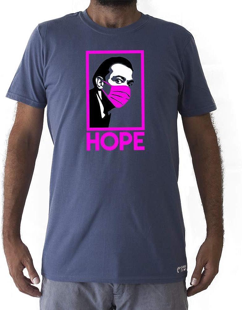 GAMBA TARONJA DALÍ Hope - Camiseta COVID19 - Camiseta Salvador DALÍ - Camiseta CORONAVIRUS - Camiseta MASCARILLA