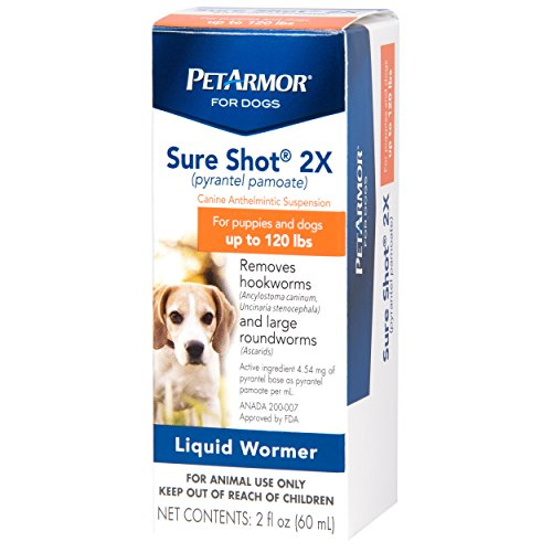 PETARMOR Sure Shot 2X (pyrantel pamoate) Liquid De-wormer for Dogs, 2 Fluid Ounces