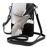 Bolso ligero del teléfono celular de la PU, bolso pequeño de la paloma voladora del bolso del hombro de la cartera del bolso del Pounch para las mujeres