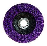 Disco de limpieza grueso CSD Ø 125 mm CBS para amoladora angular Clean Strip Disc Nylon tejido de color lila