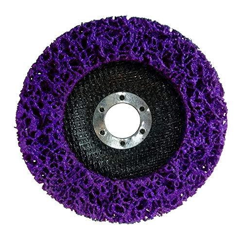 5 Stück Reinigungsscheibe Grobreinigungsscheibe CSD Ø 125mm CBS für Winkelschleifer Clean Strip Disc Nylongewebescheibe Lila