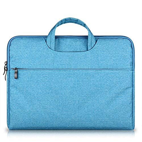 ZYSTMCQZ Waterproof Casual 13-15.6 Inch Laptop Handbag Sleeve Case Protective Bag, Notebook Carrying Case Bag With Small Case for Charger/Mouse (Color : Sky blue, Size : 11 inch)