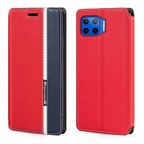 Funda para Motorola Moto G 5G Plus con cierre magnético de piel con tapa para Motorola One 5G (6,7 pulgadas)
