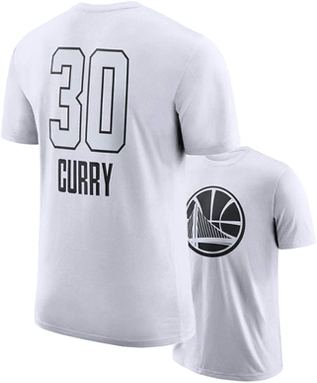 WFFXLL ShortSleeved Basketball Star New Uniform Harden Curry Black and White TShirt Cotton Sports Men's Half Sleeve Basketball tShirt (color   B, Size   XXXL)