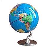 Globo para niños Estudiante Diámetro Diámetro 25 CM Interactivo Educativo Swivel Desktop Globe Home Office Escritorio Decoraciones Regalo Mapa del Mundo del Globo para la decoración de Esc